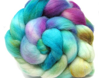 Hand dyed Polwarth & Nylon blend Combed Wool Top Superwash Sock Knitting Yarn 100g PN07