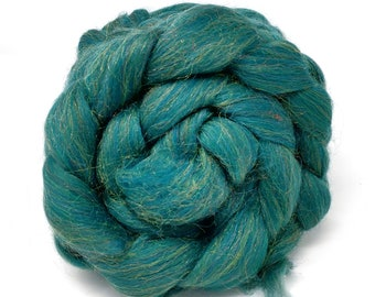 Merino Wool Trilobal Nylon Combed Top Roving - Holly Sparkle 100g