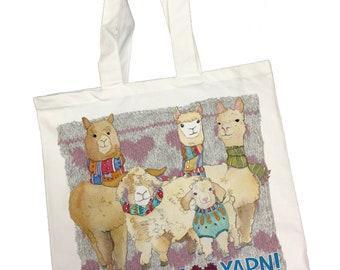 I Really Love Yarn Cotton Canvas Bag