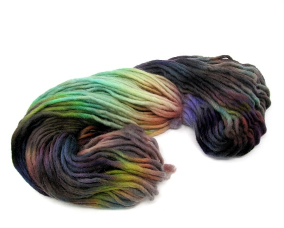 Cheviot Roving Wool Hand Dyed Pencil Roving extra chunky yarn 200g PR6