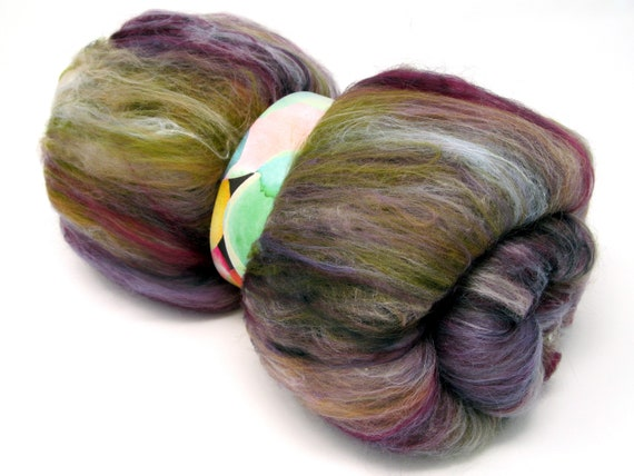 Carded Batts Merino Wool & Silk -  Tapestry 100g 21 Micron