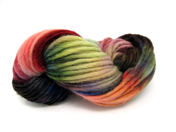 Cheviot Roving Wool Hand Dyed Pencil Roving extra chunky yarn 200g PR15