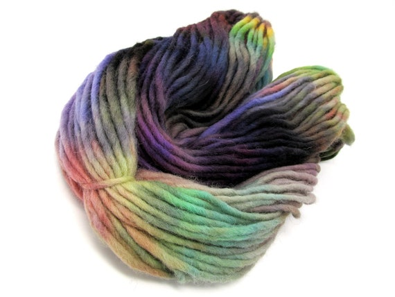 Cheviot Roving Wool Hand Dyed Pencil Roving extra chunky yarn 200g PR10