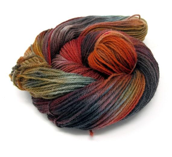 Hand Dyed Yarn DK British Breed Falkland Wool - 100g skein 300m