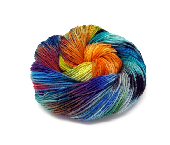 Sock Yarn 4ply Kettle Dyed Superwash Merino Wool & Nylon 100g 400m