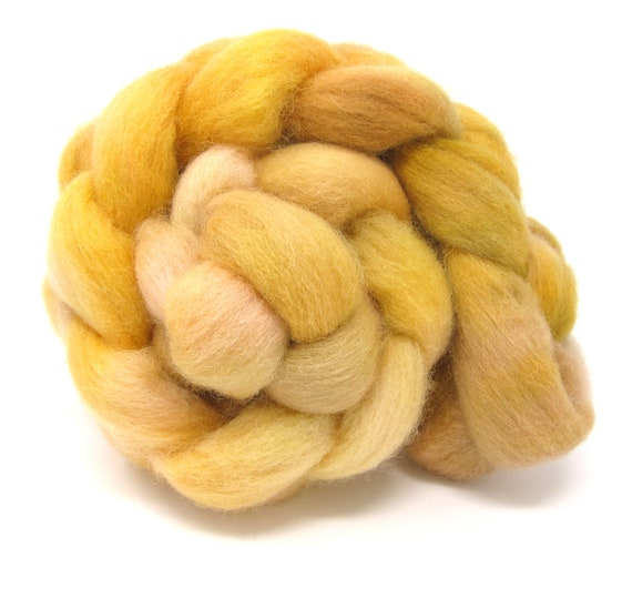 Dorset Horn Hand Dyed Combed Wool Top 100g Roving