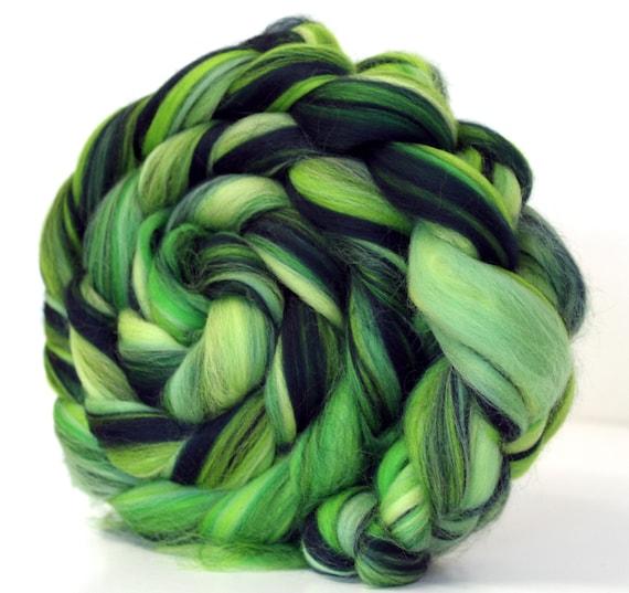 Merino Wool Combed Top Roving Rainforest 100g Roving