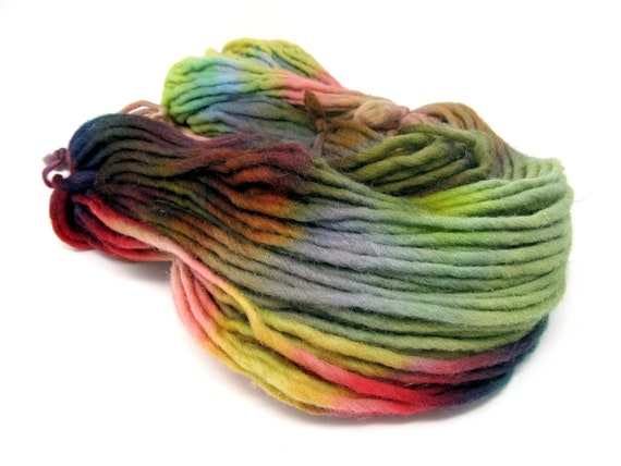 Cheviot Roving Wool Hand Dyed Pencil Roving extra chunky yarn 200g PR14