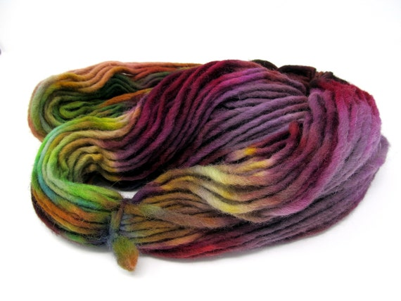 Cheviot Wool Hand Dyed Pencil Roving extra chunky yarn 200g