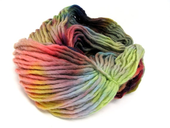 Cheviot Roving Wool Hand Dyed Pencil Roving extra chunky yarn 200g PR16