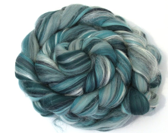 Jade Garden Merino Wool & Silk Combed Top 100g