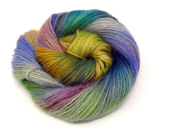 Teeswater Wool Yarn Hand Dyed DK Worsted Weight 100g T3