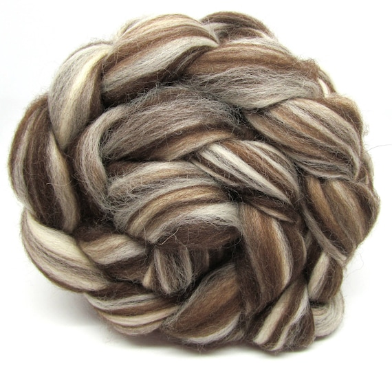 Corriedale Wool Combed Top Humbug Hand Spinning Felting Fiber