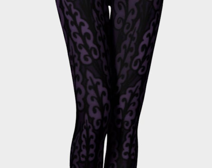 Medieval Leaves, Royal Purple, Purple Leggings, Leaves, Purple Leggings, Dark Purple, Workout, Dance, Purple Pants, Leggings, Original Art