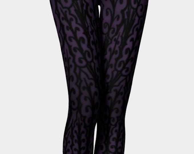 Medieval Leaves 2, Royal Prince Purple, Purple Leggings, Prince Purple, Love Symbol 2, Workout, Dance, Purple Pants, Leggings, Original Art