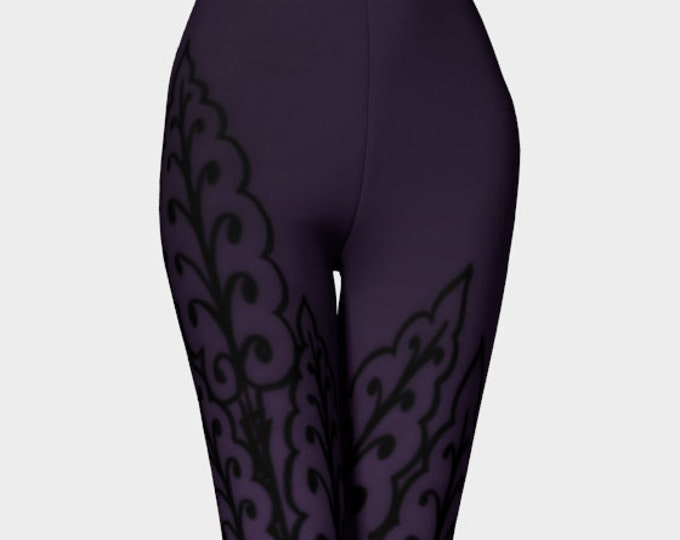 Medieval Leaves 3, Royal Prince Purple, Purple Leggings, Prince Purple, Love Symbol 2, Workout, Dance, Purple Pants, Leggings, Original Art