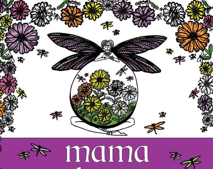 Mama Meditations, PDF, Coloring Book, Mama and Baby, Printable, Download, Pregnancy, Motherhood, Baby Shower, Mothers Day, by Laura Cesari