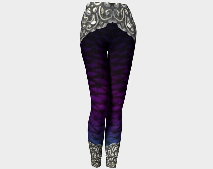 Purple Filigree Mecha Mermaid Armor Leggings, Armor, LARP Armor, Fantasy, Cosplay, Halloween Costume, Mermaid, Fish Scale, Armor, Leggings