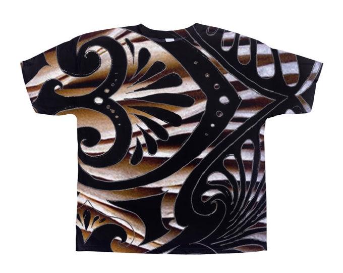 Nesoi Deco Tee Shirt, Original Art, Designer Tee, Wild Print, T Shirt,Graphic Tee, Art Tee, Hand Drawn, Original Drawing