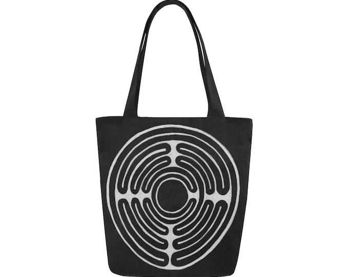 Celtic Maze, Black & White, Book Bag, Celtic, Maze, Celtic Art, Black and White Bag, Tote Bag, Canvas Tote Bag, Hand Drawn, Original Art
