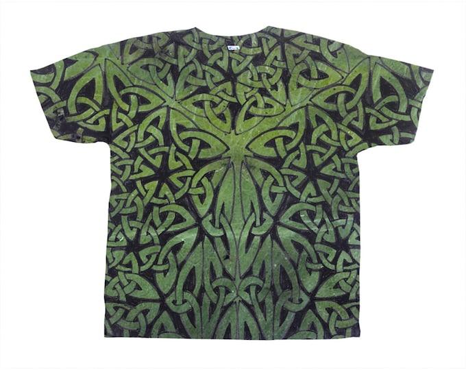 Celtic Jade Merman Armor, All-Over Print T-Shirt, Green Ombre Tee, Tee, Celtic Knot, Celtic Tee, Celtic Art, Hand Drawn, Original Art