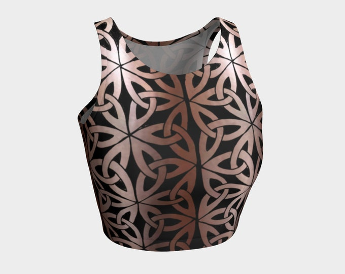 Copper Mermaid, Chainmail, Top, LARP Armor, Fantasy, Celtic Knot, Celtic, Cosplay, DnD, Metal, Costume, Tank Top, Original Art, Hand Drawn