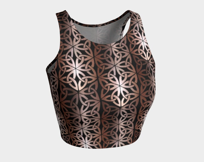 Copper Mermaid 2, Chainmail, Top, LARP Armor, Fantasy, Celtic Knot, Celtic, Cosplay, DnD, Metal, Costume, Tank Top, Original Art, Hand Drawn