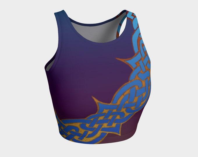 Celtic Briar, Orchid Ombre, Purple, Blue, Top, Celtic Knot, Celtic Top, Tank Top, Swim Top, Irish, Dance, Workout, Hand Drawn, Original Art