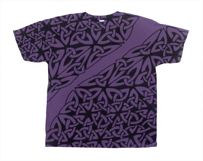 Celtic Royal Purple Tee, Celtic Knot, Purple, Designer Tee, Wild Print, T Shirt,Graphic Tee, Art Tee, Hand Drawn, Original Drawing