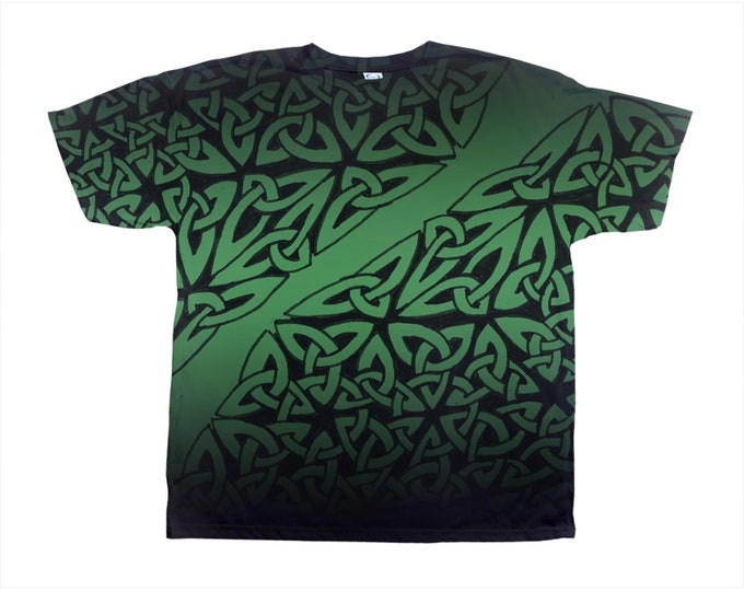 Celtic Jade Tee, Original Art, Celtic  Knot, St. Patricks Day Tee, Wild Print, T Shirt,Graphic Tee, Art Tee, Hand Drawn, Original Drawing