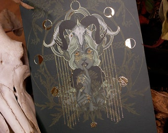 Spirit of Yule fine art gold gilded print