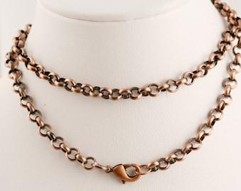 18 Inch Antique Copper Chain