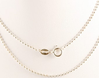 18 Inch Sterling Silver Ball Chain 1.5MM Thick