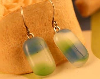 Fused Glass Earrings No.  269