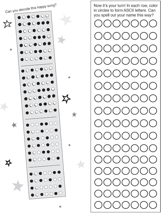 BINARY CODE - free printable activity pages