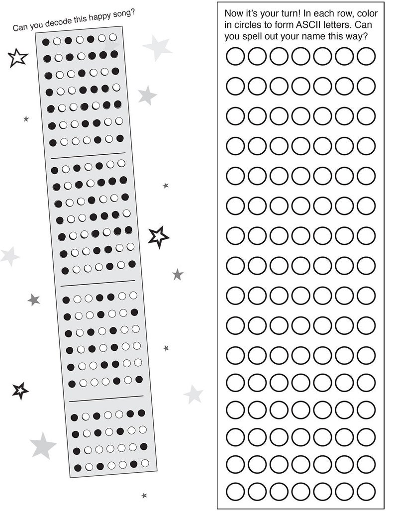 BINARY CODE free printable activity pages | Etsy