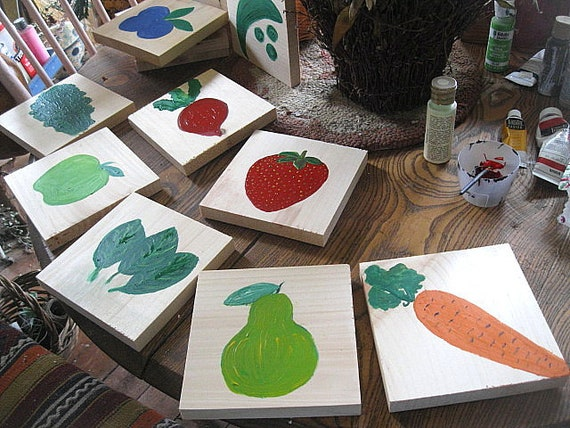 SALE On KITCHEN Or RESTAURANT Table Markers Folk Art Hand Etsy - Restaurant table markers