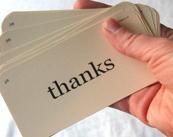 Thanks flash cards