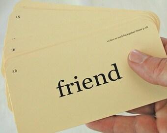 Friend Flash Cards