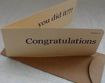 Congratulations flash card x 3