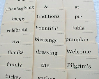 Thanksgiving Flash Card set