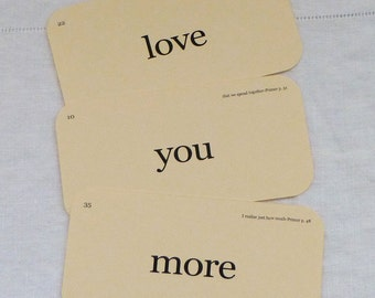 love you more flash cards