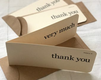 Thank You Flash Card Greeting Card (Set of 3)
