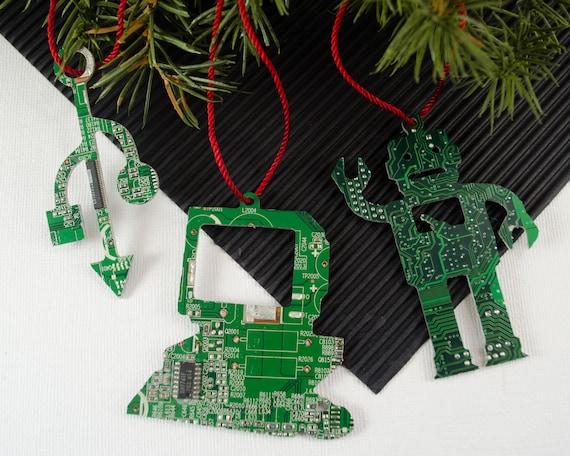 image 0 - Circuit Board Ornament Set Computer Ornaments Computer Etsy