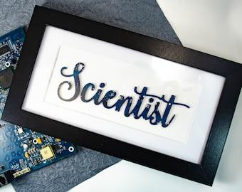 Custom Circuit Board Wall Art, Hand Lettered Style, Geek Art, Engineer Gift, Computer Programmer Art, Personalized Art Gift