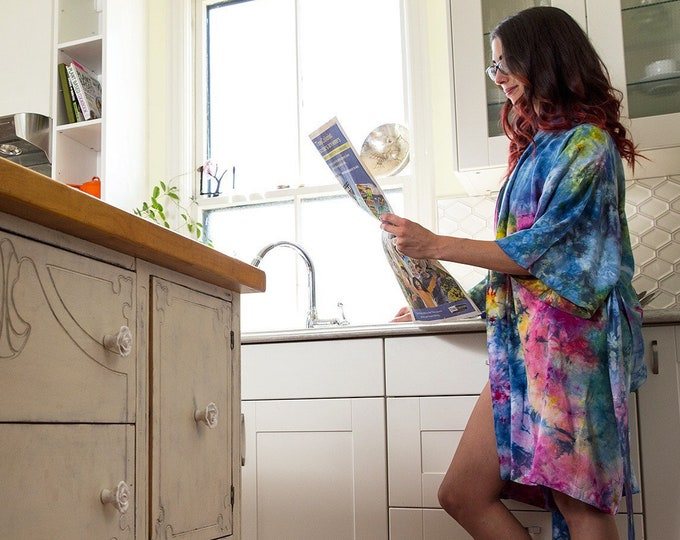 Featured listing image: Rainbow Rain Kimono