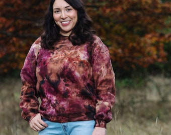 Crimson & Coffee Tie Dye Sweatshirt