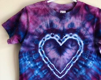 SALE - Purple Heart Tie Dye Tee