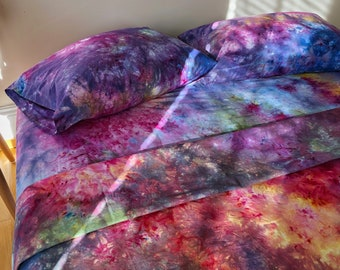 Rainbow Rain Queen Size Sheet Set