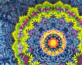 Tie Dye Mandala Wall Art